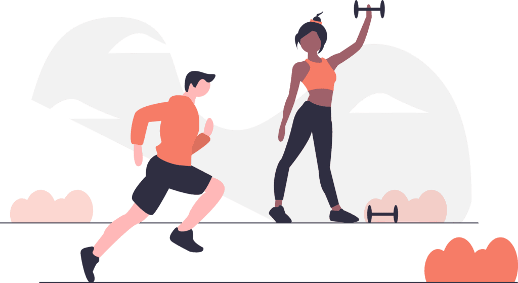 a man and a women exercise to get healthier