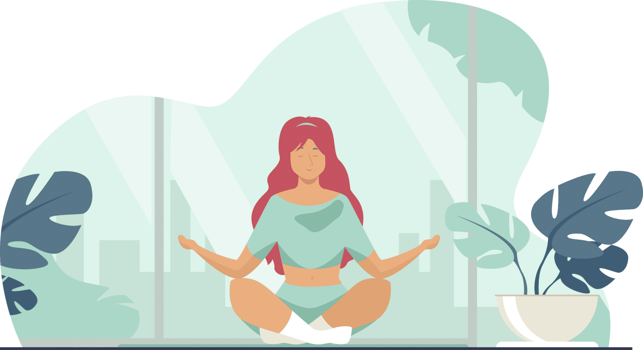 women learn how to meditate home